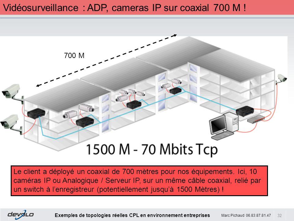 Vidéosurveillance : ADP, cameras IP sur coaxial 700 M !