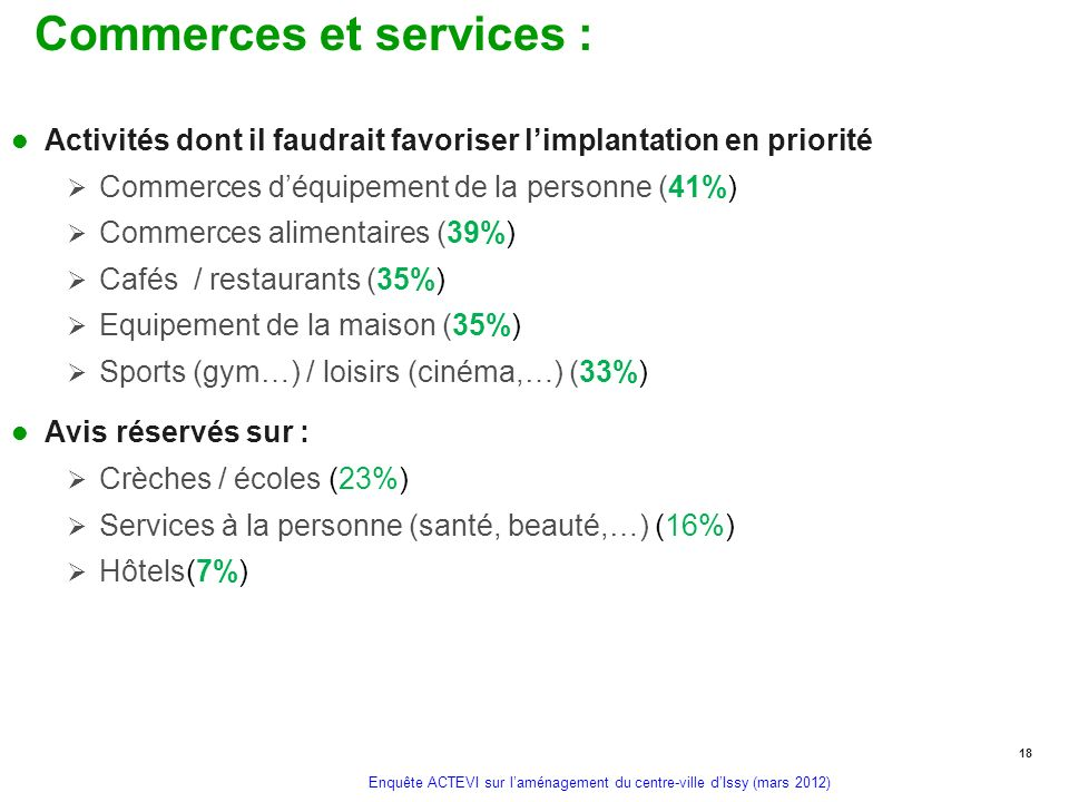 Commerces et services :