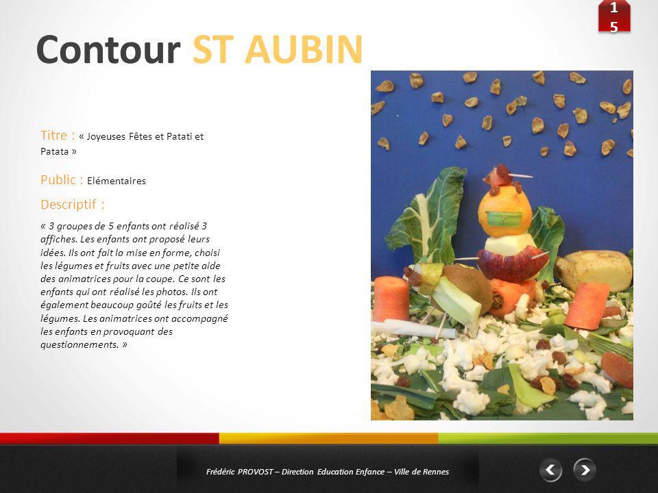 Contour ST AUBIN 15 Titre : « Joyeuses Fêtes et Patati et Patata »