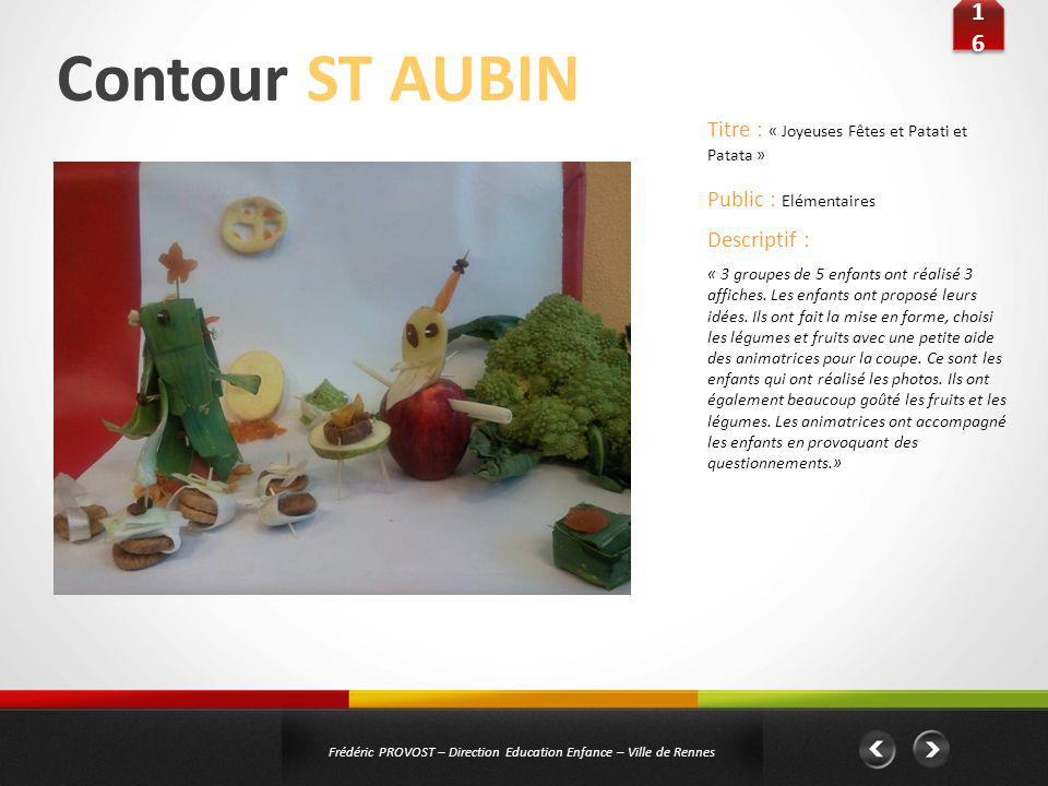 Contour ST AUBIN 16 Titre : « Joyeuses Fêtes et Patati et Patata »
