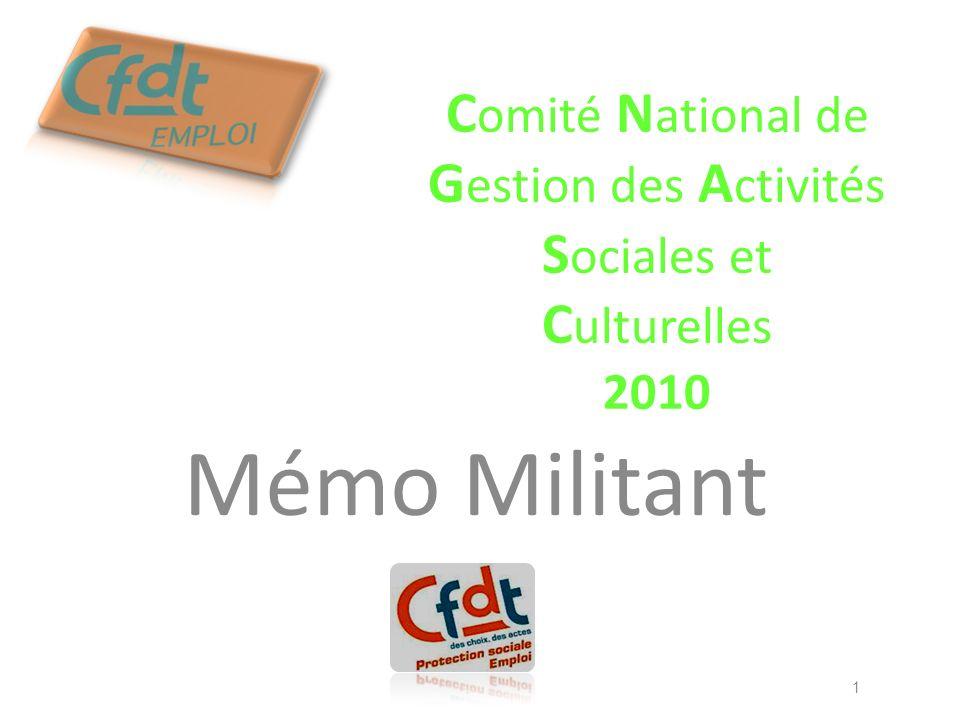 Comité National de Gestion des Activités Sociales et Culturelles 2010