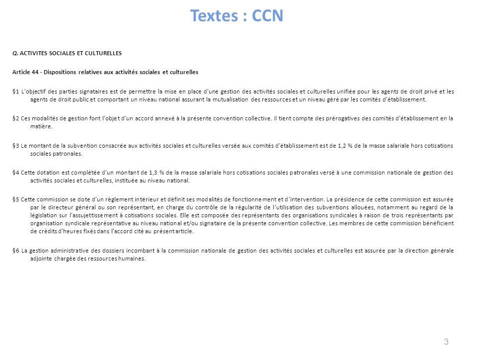Textes : CCN