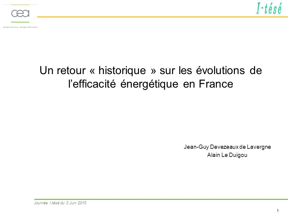 Jean-Guy Devezeaux de Lavergne Alain Le Duigou