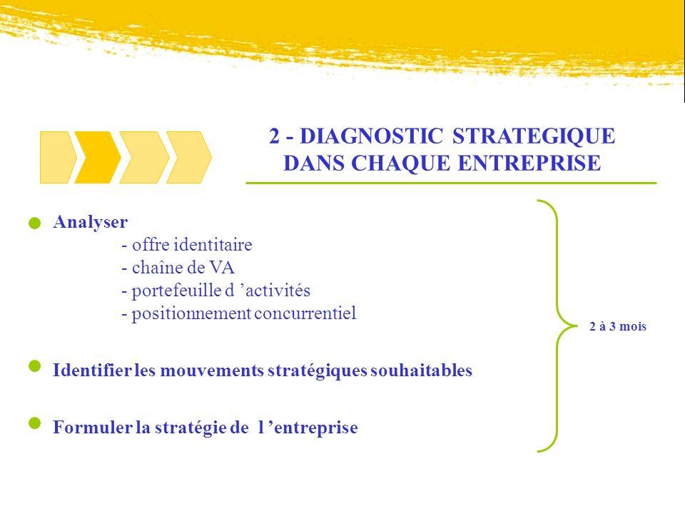 2 - DIAGNOSTIC STRATEGIQUE DANS CHAQUE ENTREPRISE