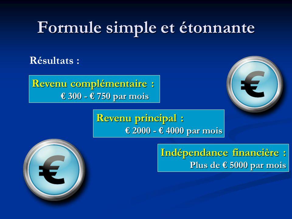 Formule simple et étonnante