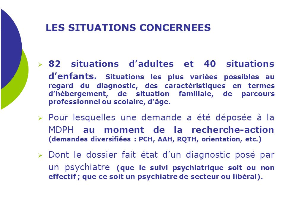 LES SITUATIONS CONCERNEES