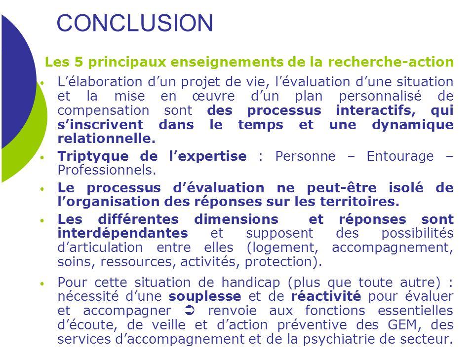 CONCLUSION Les 5 principaux enseignements de la recherche-action