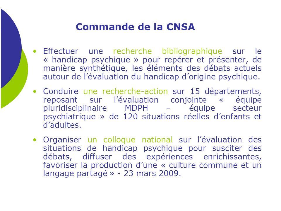 Commande de la CNSA