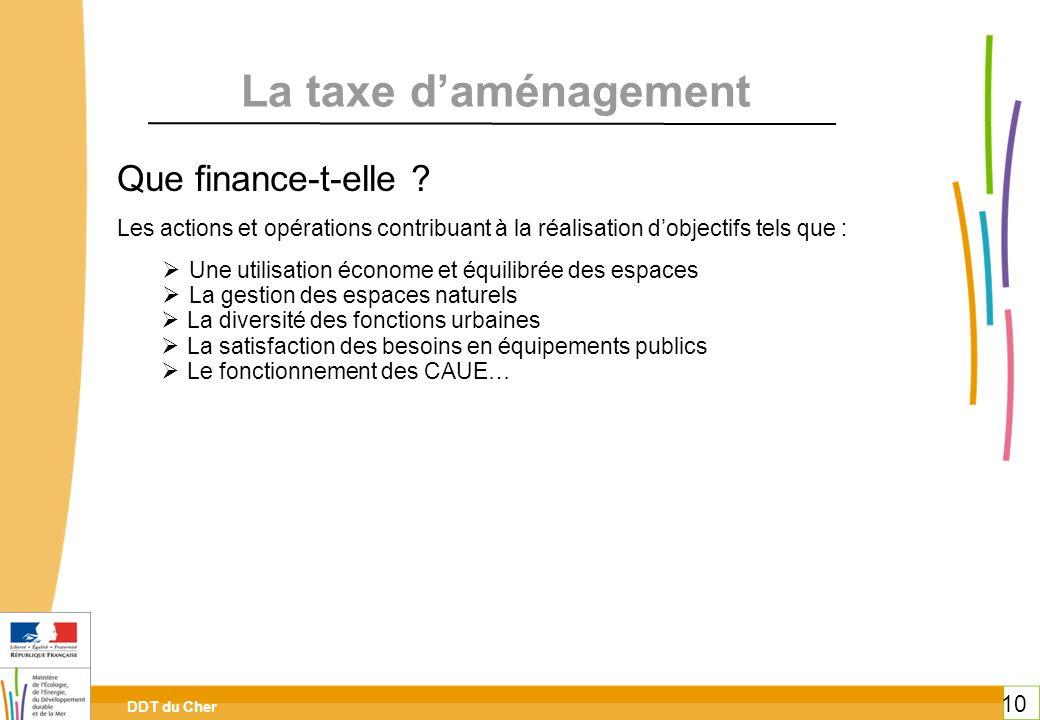 La taxe d'aménagement Que finance-t-elle
