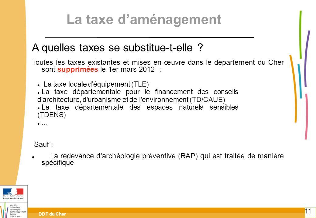 La taxe d'aménagement A quelles taxes se substitue-t-elle
