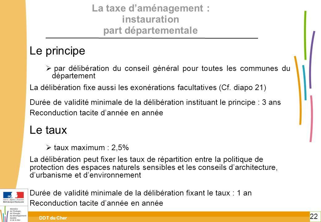 La taxe d'aménagement : instauration part départementale