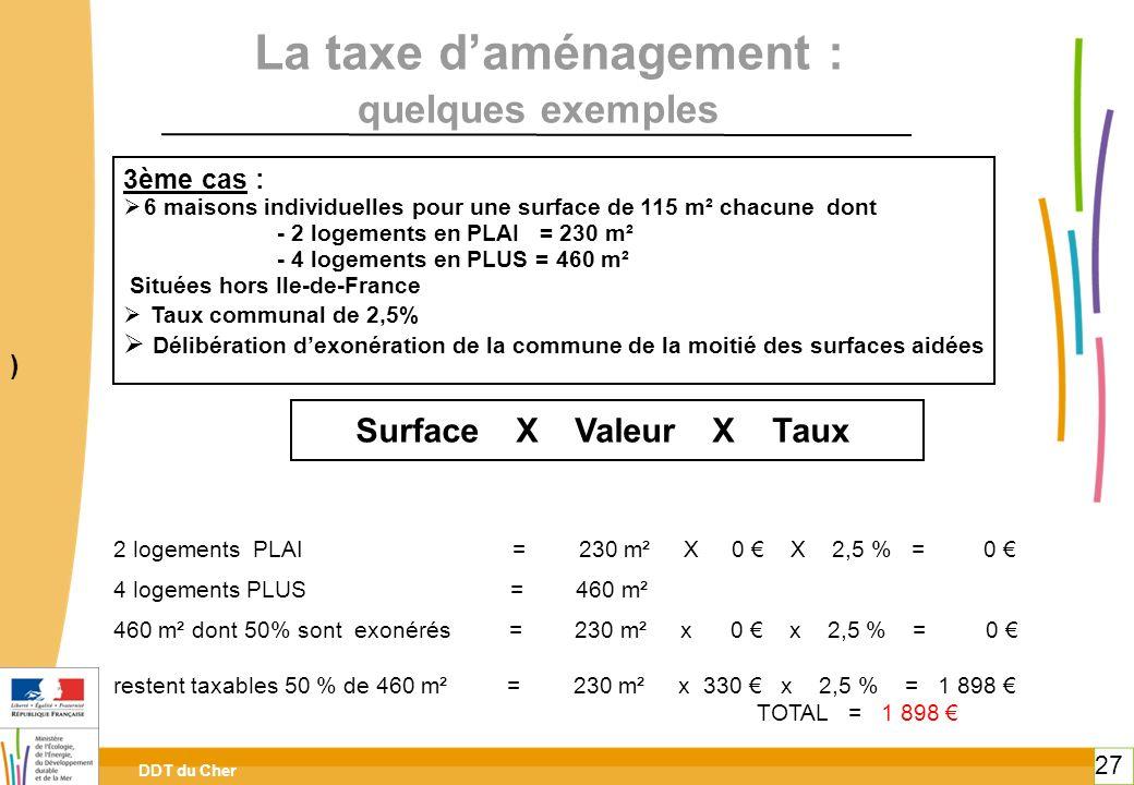 La taxe d'aménagement :