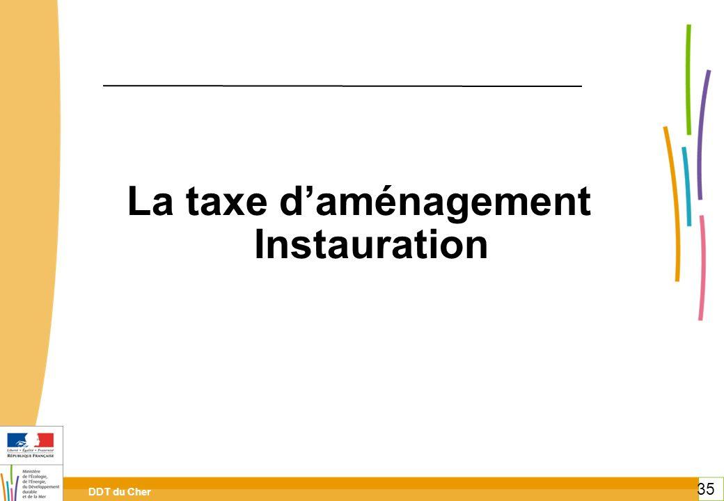 La taxe d'aménagement Instauration