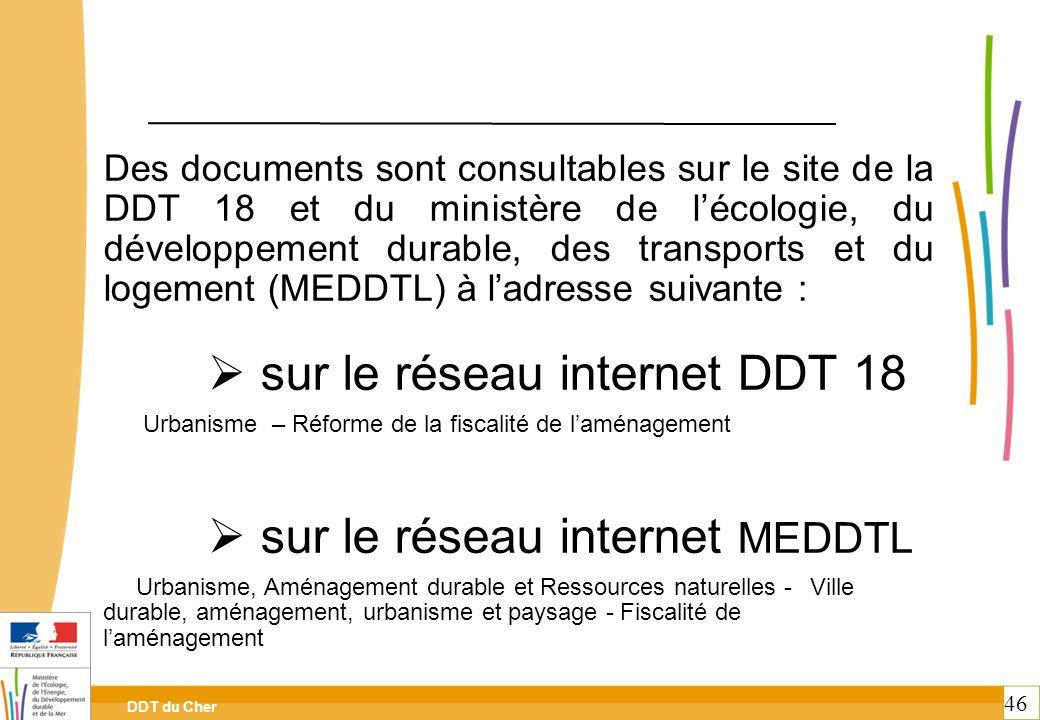 sur le réseau internet DDT 18