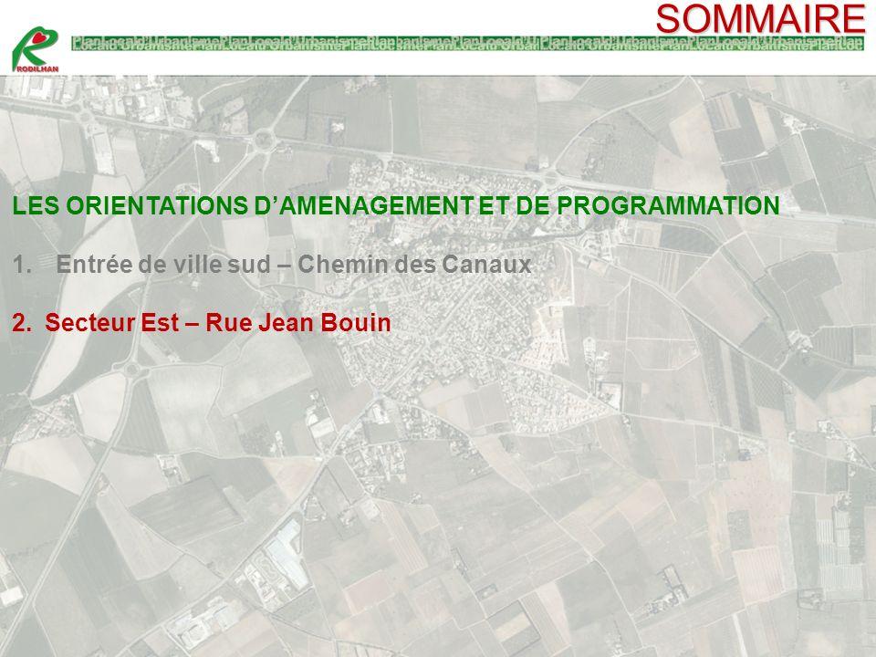 SOMMAIRE LES ORIENTATIONS D'AMENAGEMENT ET DE PROGRAMMATION