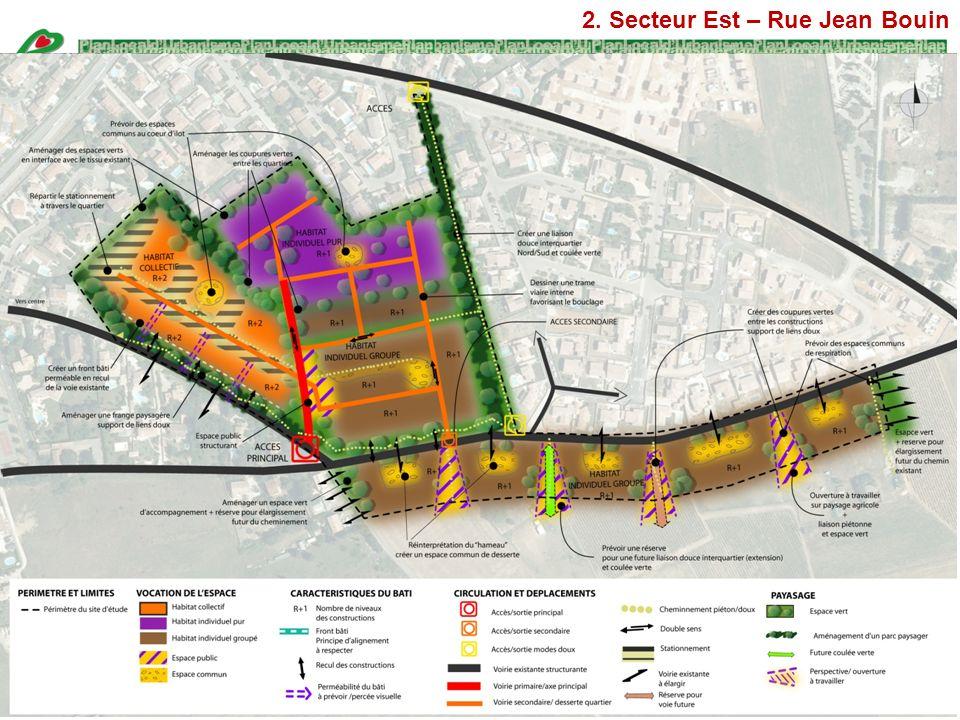 2. Secteur Est – Rue Jean Bouin