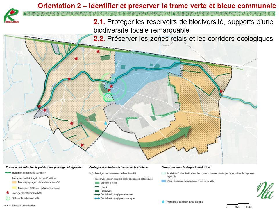 Orientation 2 – Identifier et préserver la trame verte et bleue communale