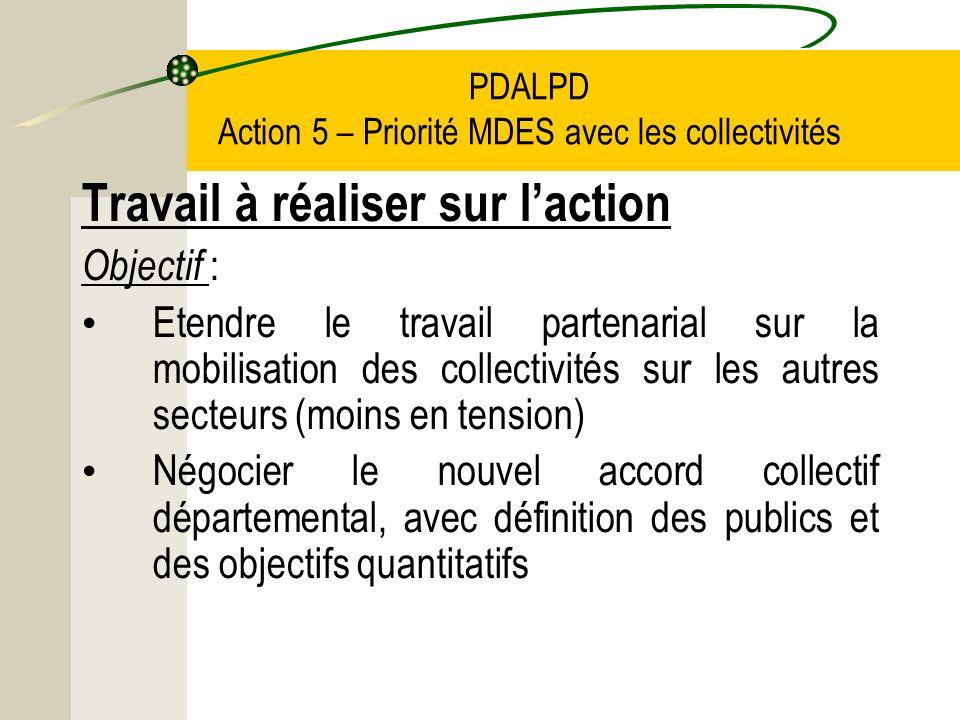 PDALPD Action 5 – Priorité MDES avec les collectivités