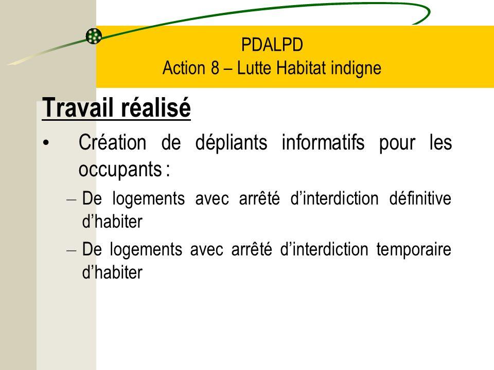 PDALPD Action 8 – Lutte Habitat indigne