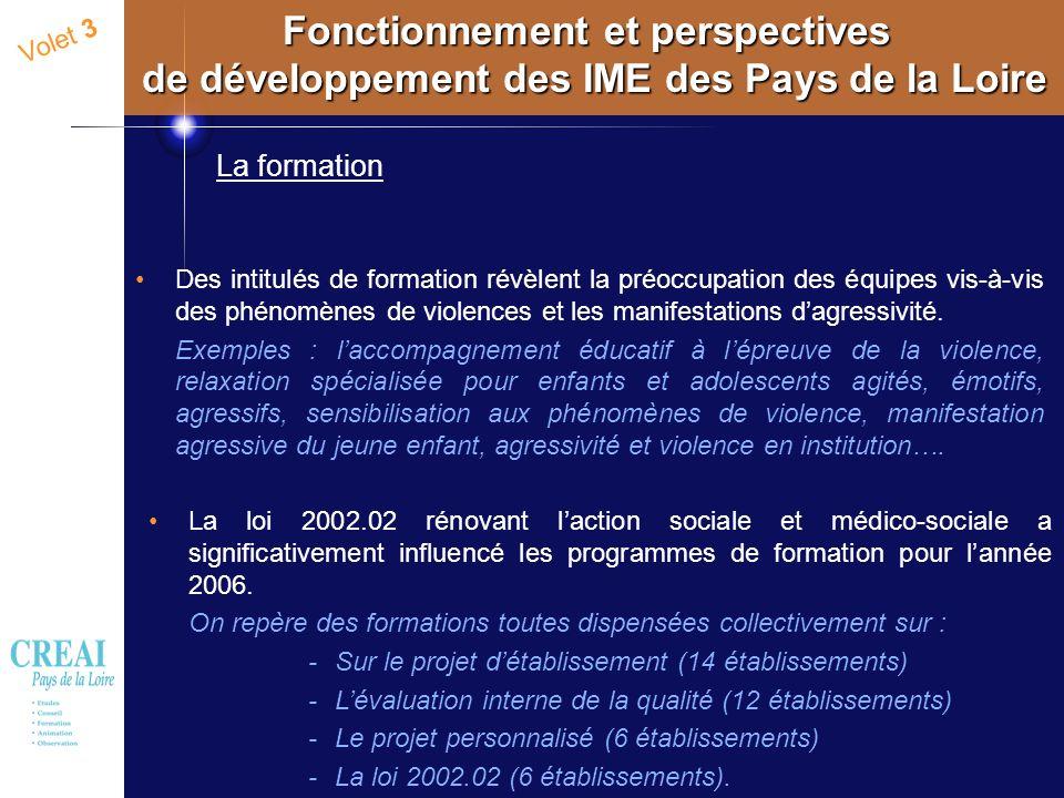 Fonctionnement et perspectives de développement des IME des Pays de la Loire