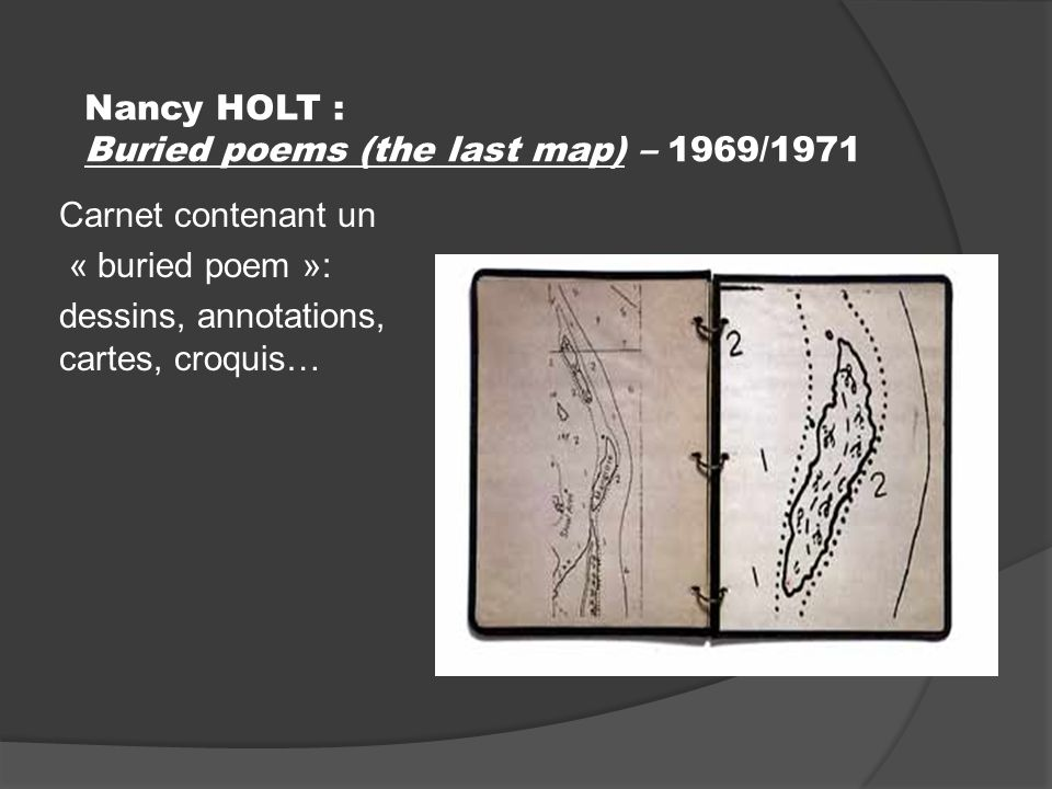 Nancy HOLT : Buried poems (the last map) – 1969/1971