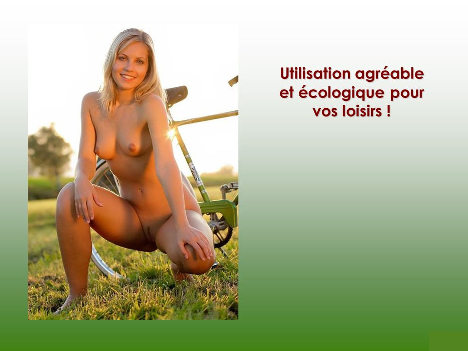 Utilisation agréable et écologique pour vos loisirs !