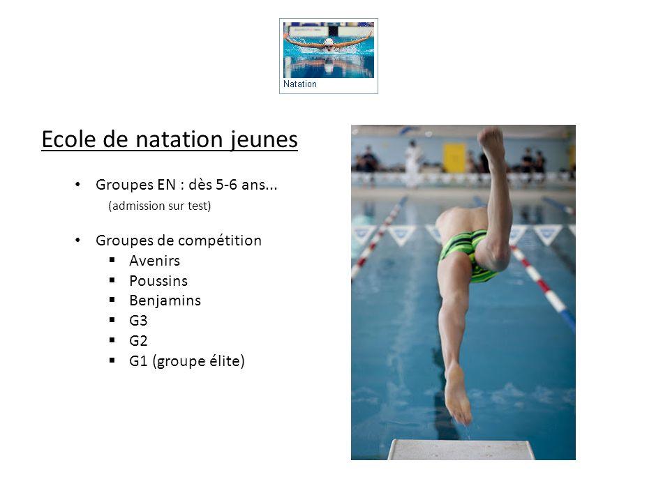 Ecole de natation jeunes