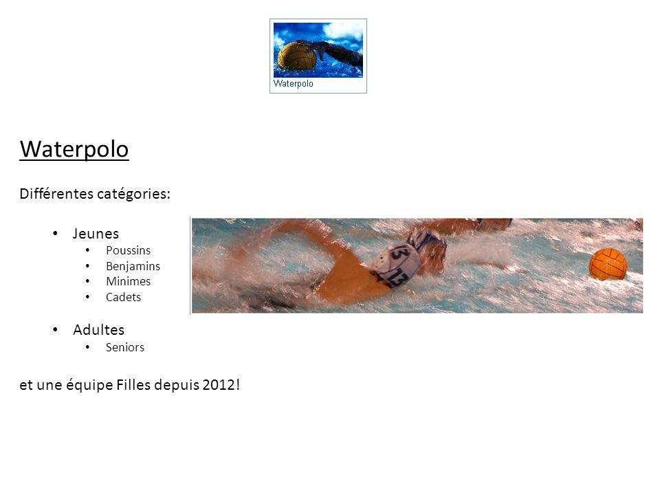Waterpolo Différentes catégories: Jeunes Adultes