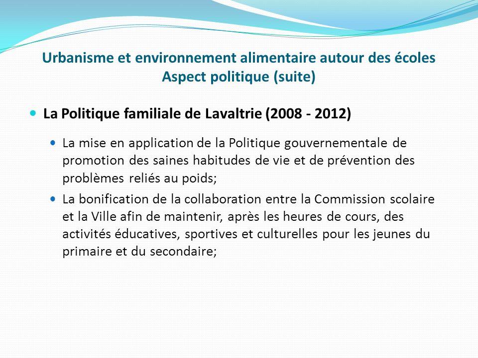 La Politique familiale de Lavaltrie (2008 - 2012)