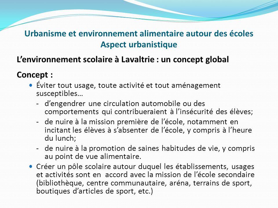 L'environnement scolaire à Lavaltrie : un concept global Concept :