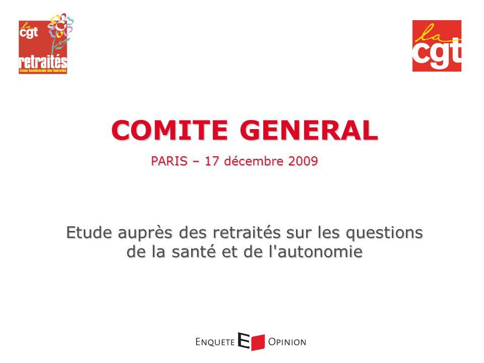 COMITE GENERALPARIS – 17 décembre 2009.