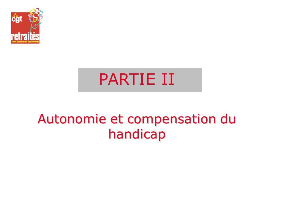 Autonomie et compensation du handicap