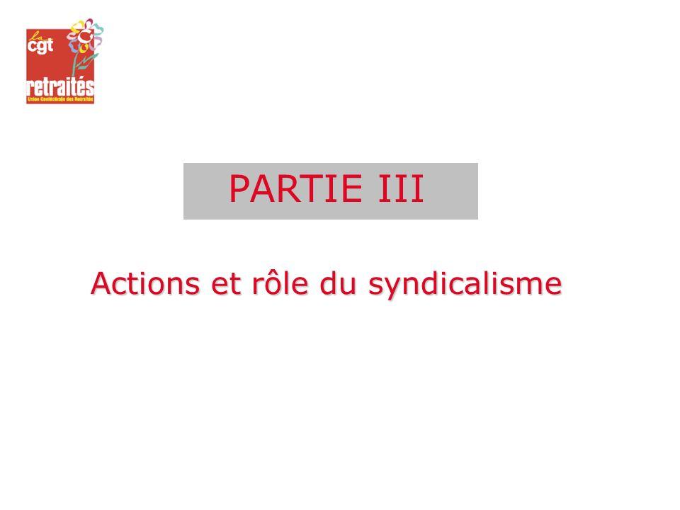Actions et rôle du syndicalisme