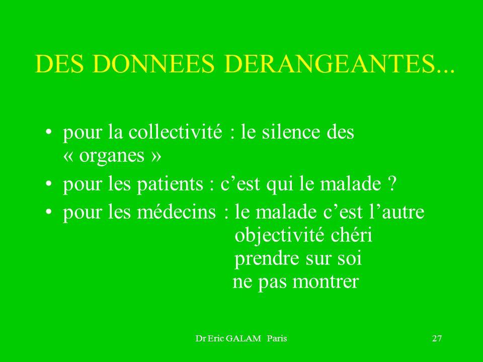 DES DONNEES DERANGEANTES...