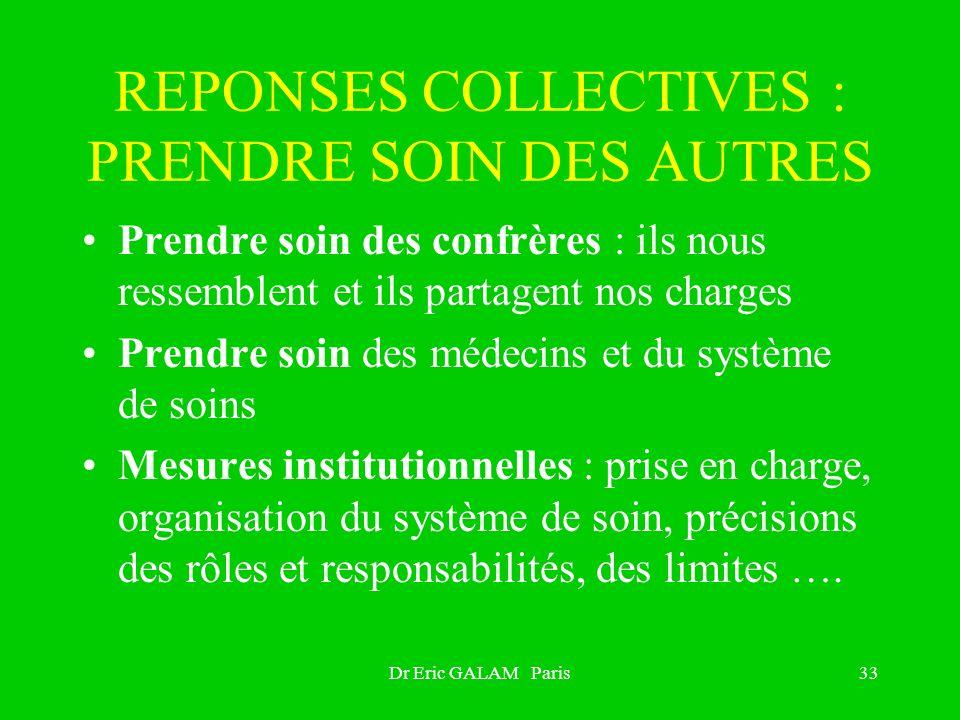 REPONSES COLLECTIVES : PRENDRE SOIN DES AUTRES