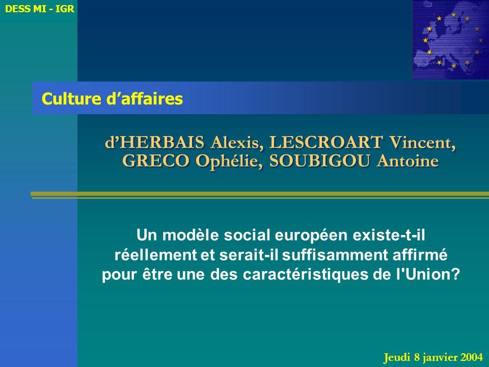 d'HERBAIS Alexis, LESCROART Vincent, GRECO Ophélie, SOUBIGOU Antoine