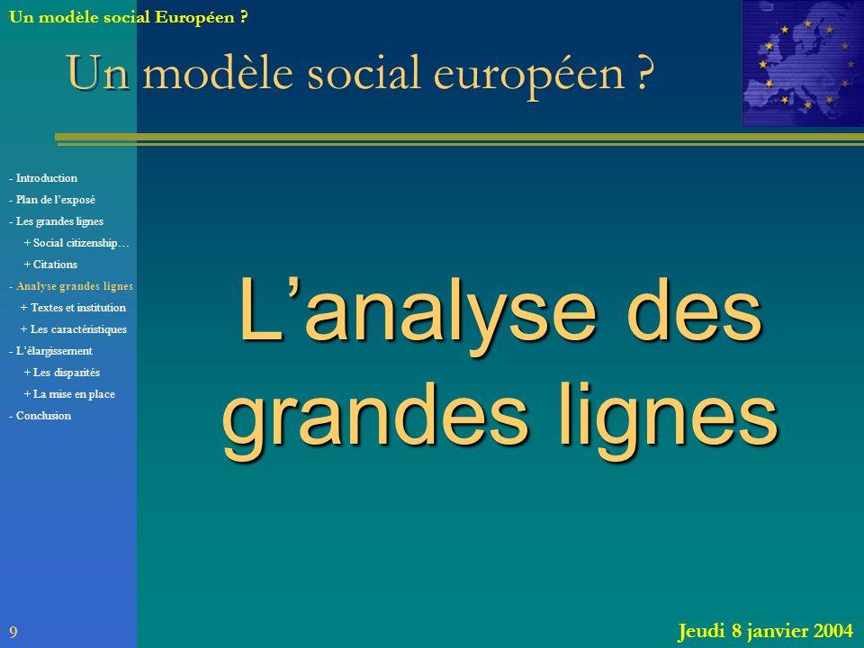 Un modèle social européen