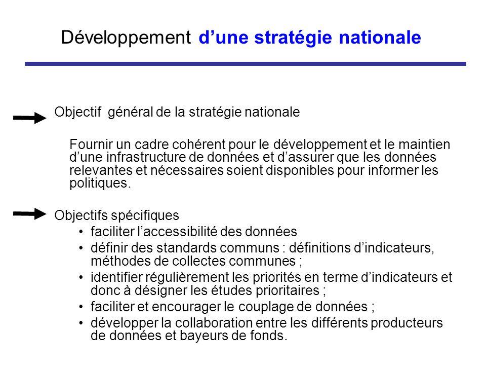 Développement d'une stratégie nationale