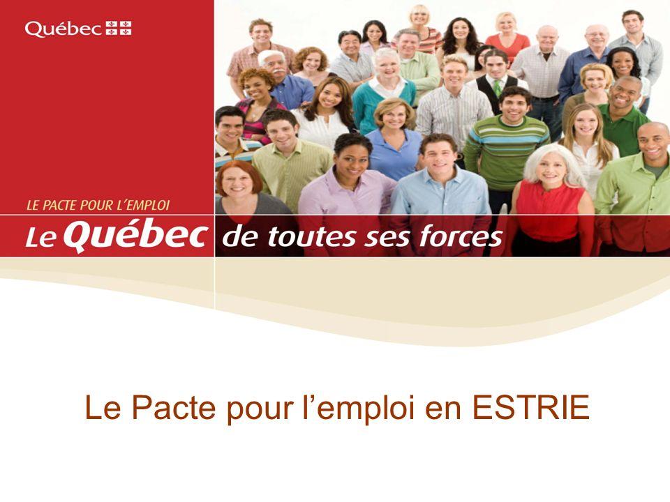 Le Pacte pour l'emploi en ESTRIE
