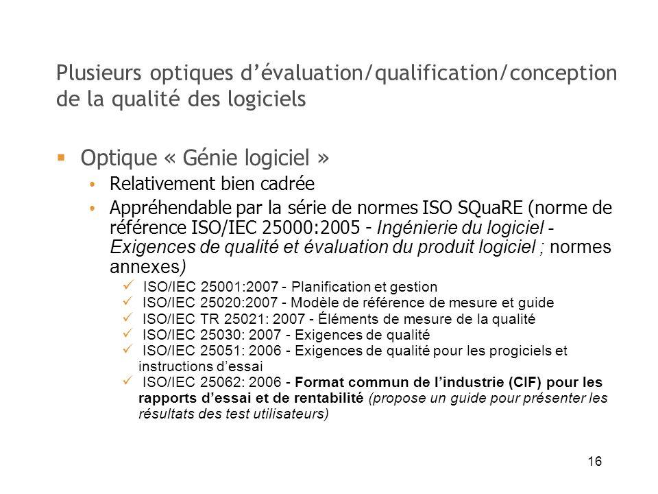 Optique « Génie logiciel »