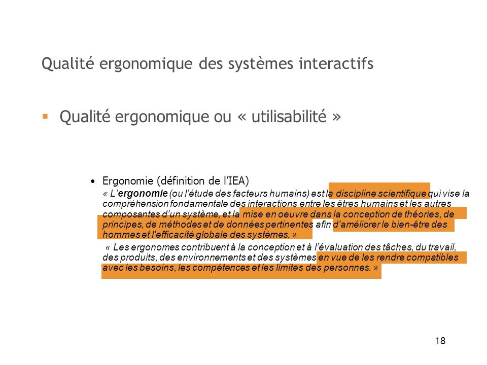 Qualité ergonomique des systèmes interactifs