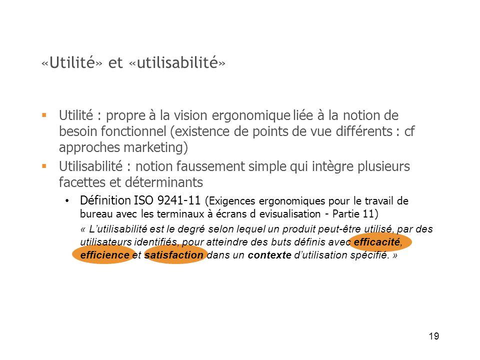 «Utilité» et «utilisabilité»