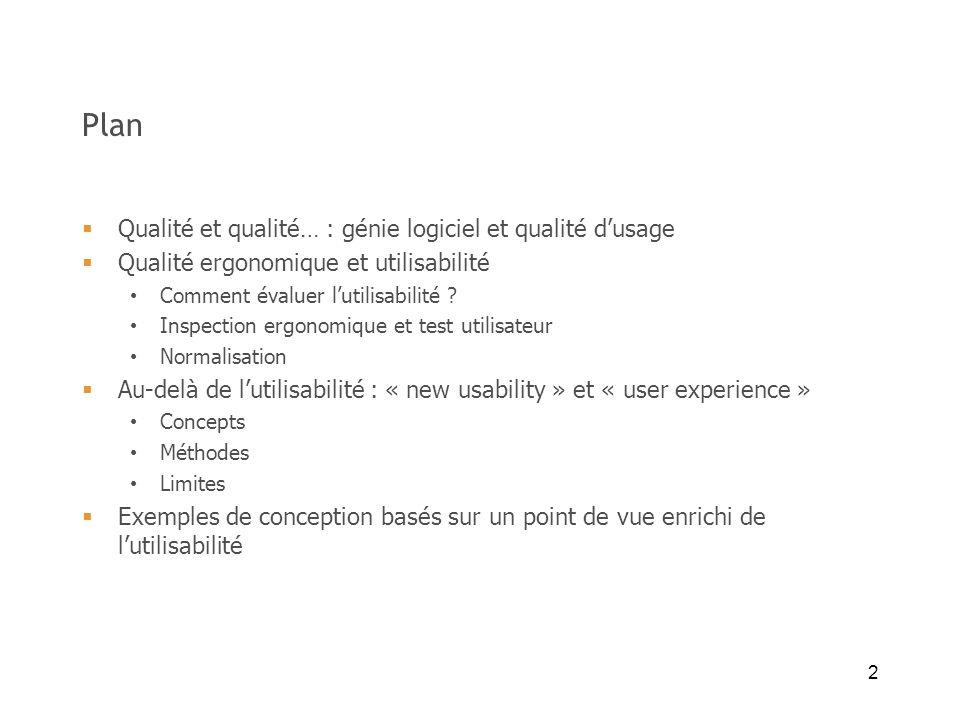 Plan Qualité et qualité… : génie logiciel et qualité d'usage