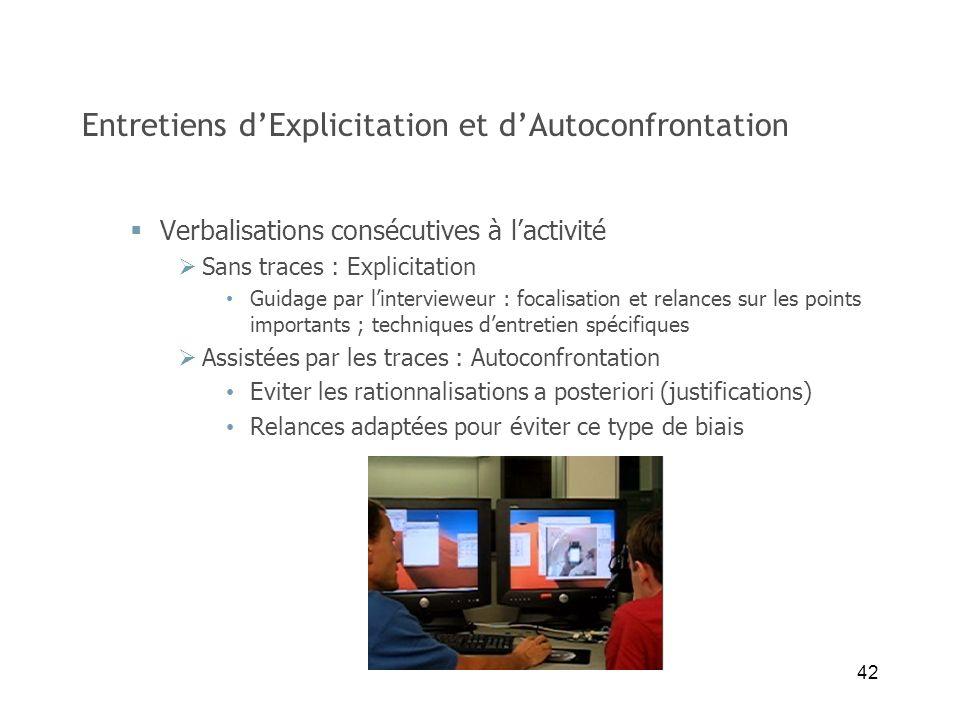 Entretiens d'Explicitation et d'Autoconfrontation