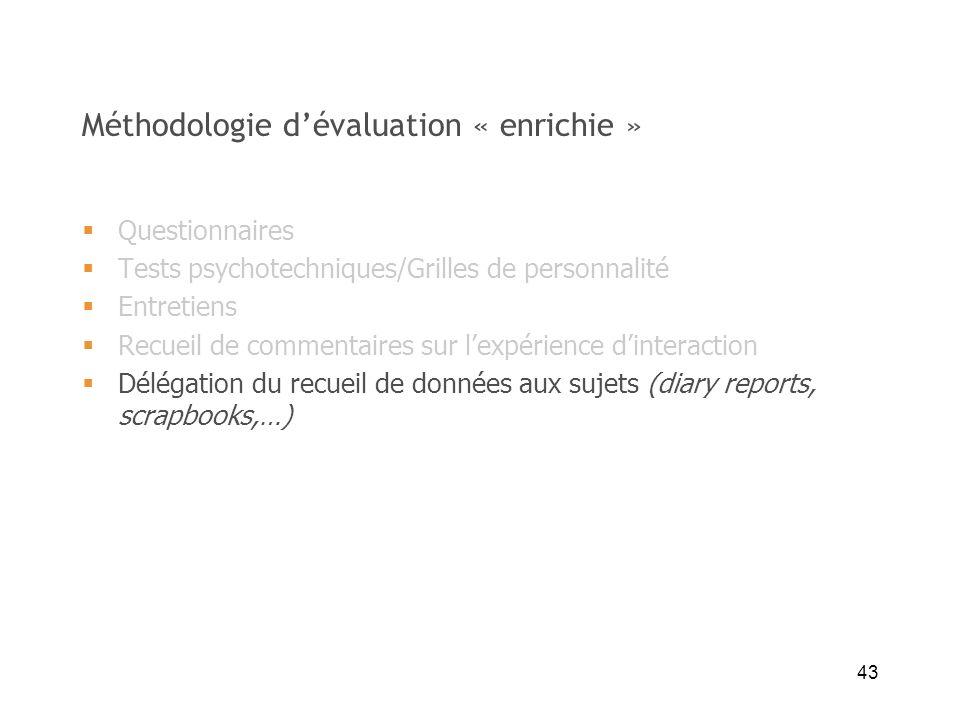 Méthodologie d'évaluation « enrichie »