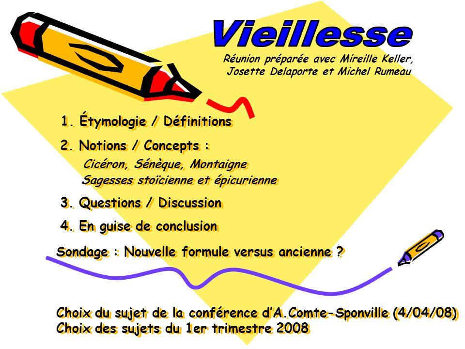 Vieillesse Réunion préparée avec Mireille Keller, Josette Delaporte et Michel Rumeau.