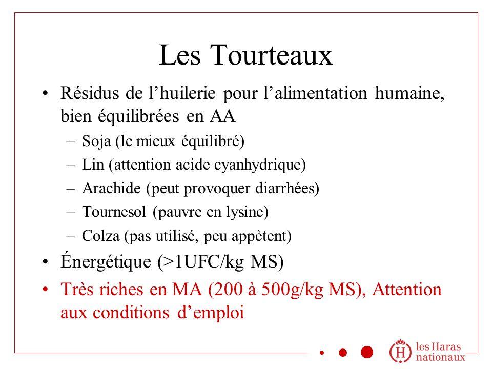 Les Tourteaux Résidus de l'huilerie pour l'alimentation humaine, bien équilibrées en AA. Soja (le mieux équilibré)