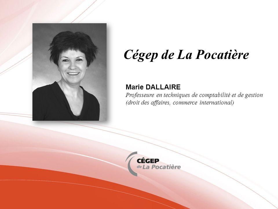 Cégep de La Pocatière Marie DALLAIRE