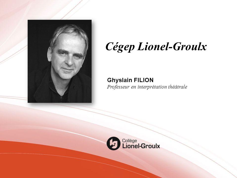 Cégep Lionel-Groulx Ghyslain FILION