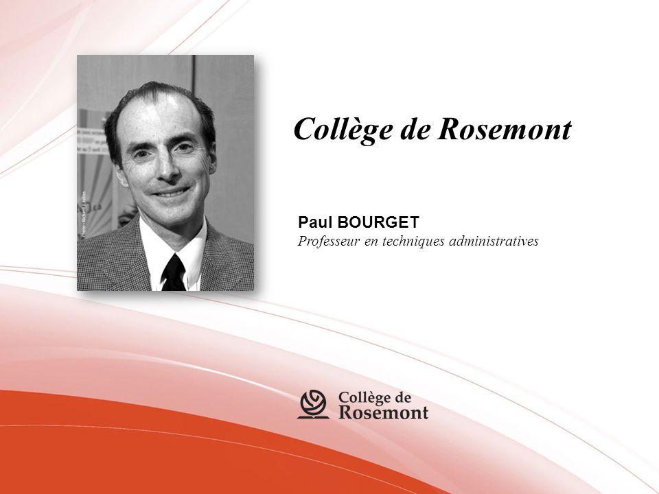 Collège de Rosemont Paul BOURGET